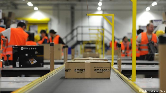 An Amazon distribution center in Pforzheim, Germany.