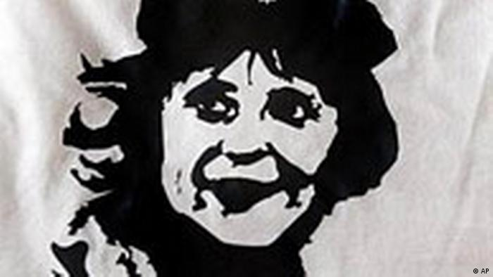 CDU-Wahlkampf: Angela Merkel T-Shirt als Che Guevara (AP)