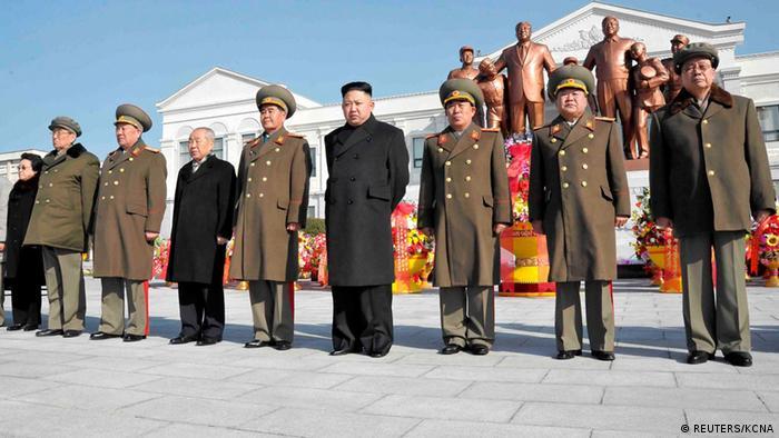 Nordkorea Kim Jong Un Statue Pjöngjang