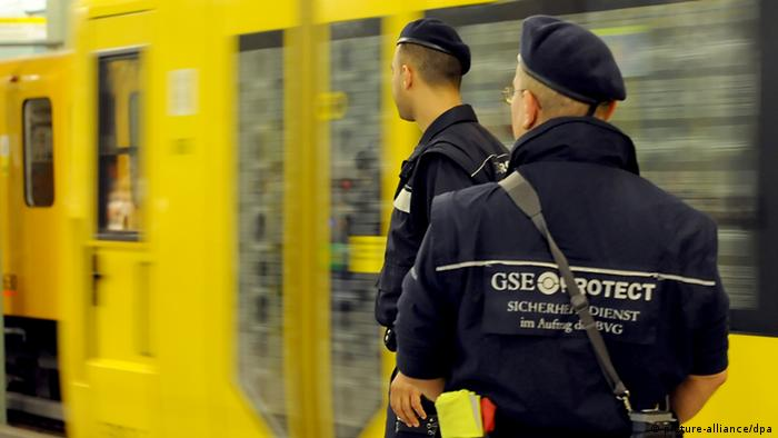 Private security staff in Berlin metro