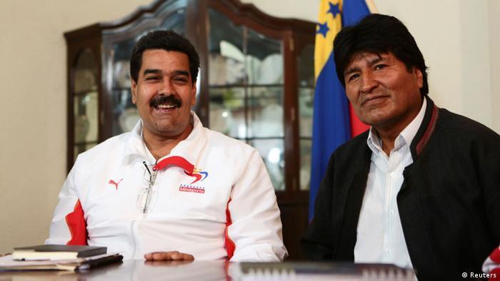 Morales y Maduro cuestionaron la idea colombiana.