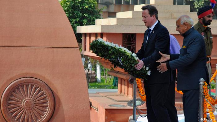 David Cameron zu Besuch in Indien (Reuters)
