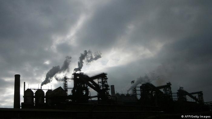 Одна из фабрик по производству стали