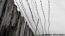 ARCHIV - Holzbretterzaun und Stcheldraht am ehemaligen Straflager Perm 36, das bis 1989 von der Sowjetunion als Gefängnis fuer Dissidenten und andere Häftlinge benutzt wurde, aufgenommen am 24.07.2009. Die Anlage wird heute als GULAG-Museum benutzt. Die Grimme-Preisträgerin Loretta Walz hat für ihren Dokumentarfilm «Im Schatten des Gulag - als Deutsche unter Stalin geboren» acht Frauen und Männer gefunden, die ihre Kindheit in der Sowjetunion verbrachten und deren Eltern verfolgt wurden. Die Co-Produktion mit dem MDR und RBB hat am Mittwoch in Düsseldorf Premiere und soll im Herbst ins Fernsehen kommen. Foto: Matthias Tödt dpa/lnw