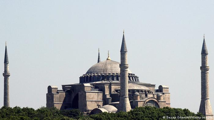 Picture taken 03 July 2007 shows the Hagia Sophia, a sixth-century Byzantine church converted to a mosque under the Ottoman empire and now turned into a museum in Istanbul. The Hagia Sophia is in competition for the 'new' Seven Wonders of the world private Internet poll due to be released 07 July. AFP PHOTO / SEZAYI ERKEN (Photo credit should read SEZAYI ERKEN/AFP/Getty Images)