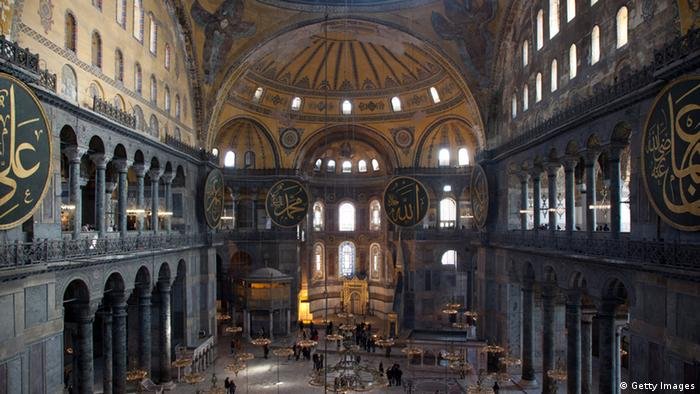 Inside the Hagia Sophia (Getty Images)