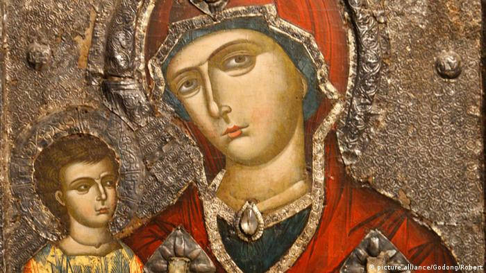 Icon by Onufri dating from the 16th century, Berat, Albania