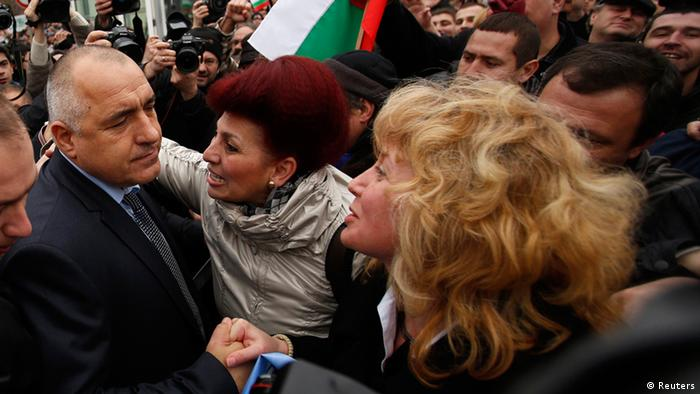 Boiko Borisov Rücktritt Parlament 21.02.2013