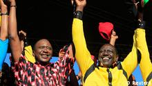 Kenia Wahlen Uhuru Kenyatta und William Ruto