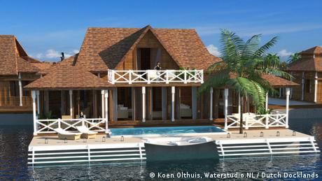 Bildergalerie Wasser als Wohnfläche The Ocean Flower Maldives Projekt Waterstudio.NL