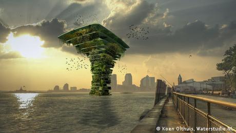 Bildergalerie Wasser als Wohnfläche Projekt Sea Tree von Waterstudio NL
