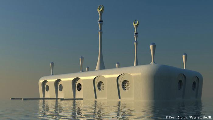 Bildergalerie Wasser als Wohnfläche Projekt Floating mosque von Waterstudio NL