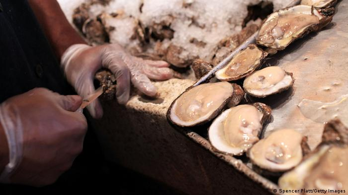 Oysters being shucked in New Orleans (Spencer Platt/Getty Images)