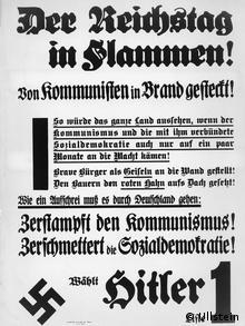 Wahlplakat NSDAP Reichstagswahl 1933