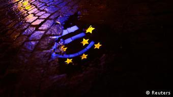 Euro Krise sinkender Stern Rezession