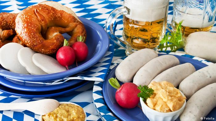 German sausages and beer