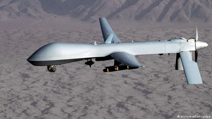 A US Air Force MQ-1 Predator drone, shown airborne at an undisclosed African location and date in a handout photo. (Photo: EPA/LT. COL. LESLIE PRATT, via dpa)