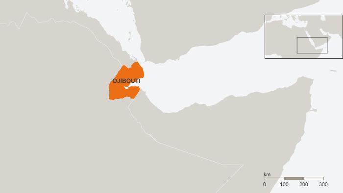 A map of Djibouti.