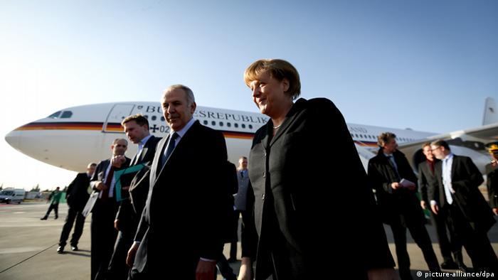 Ангела Меркель по прибытии в Турцию