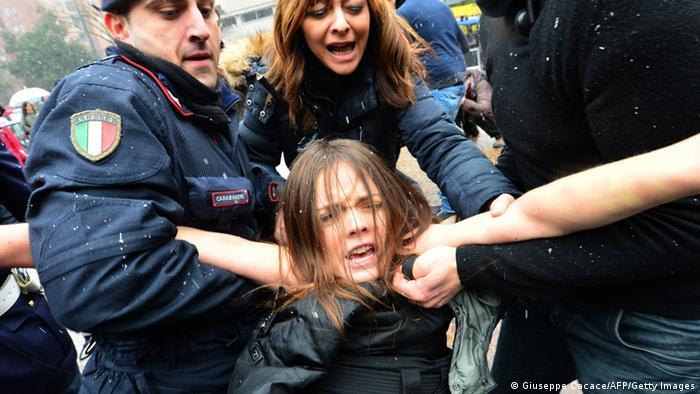 Italien Parlamentswahl 2013 Protest FEMEN