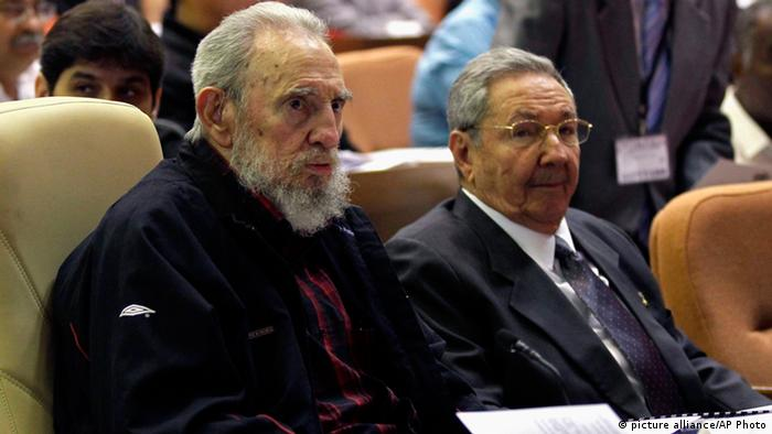 Cuba's President Raul Castro, right, and brother Fidel Castro attend the opening session of the National Assemby in Havana, Cuba, Sunday, Feb. 24, 2012.