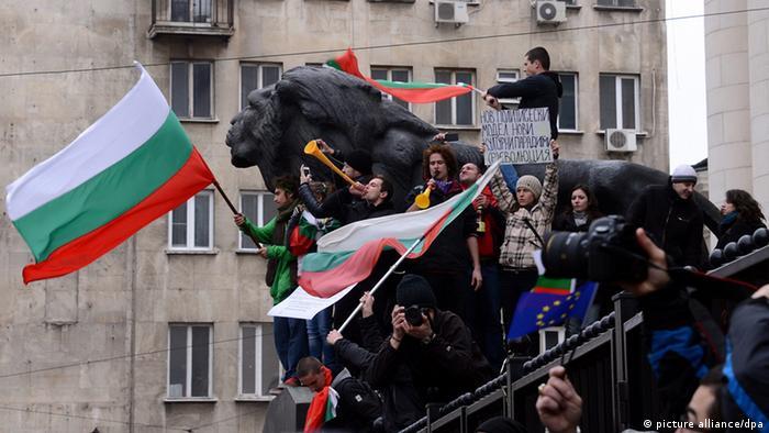 Demonstration in Sofia Bulgarien