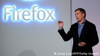Gary Kovacs, director ejecutivo de Mozilla, en la feria Mobile World, de Barcelona.