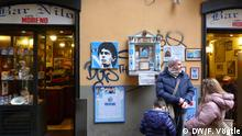 Bar Nilo mit Maradona-Heiligenschrein in der Spaccanapoli in Neapels Altstadt. Foto: DW/Fabian Vögtle 24.02.2013.