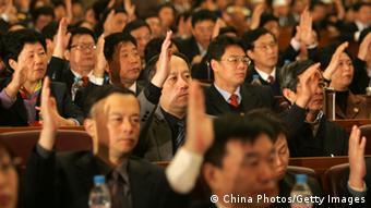 Bildergalerie China Volkskongress Abstimmung