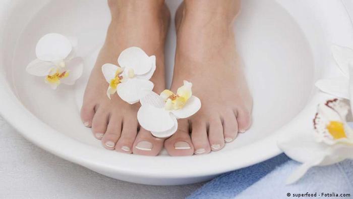 Escalda-pés previne doenças