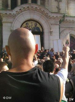 Nationalisten-Demonstration in Sofia (Juli 2005)