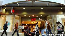Eine H&M-Filiale auf der Frankfurter Einkaufsmeile Zeil