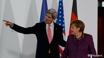 Kerry und Merkel PK in Berlin 26.02.2013