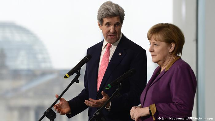 Kerry and Merkel in Berlin in February 2013. Photo: Getty