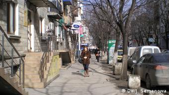 На улицах в Кишиневе