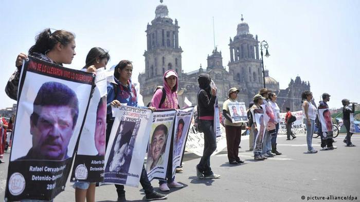Mexiko Verschwundene Menschen Protest (picture-alliance/dpa)