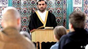 A service at a mosque in Gelsenkirchen, Germany