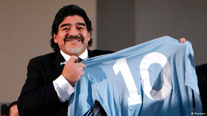 Maradona in Neapel 26.02.2013