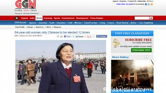 Shen Jilan, (Photo: http://english.globalgujaratnews.com/article/84-year-old-woman-only-chinese-to-be-elected-12-times/A55 Copyright: http://english.globalgujaratnews.com)