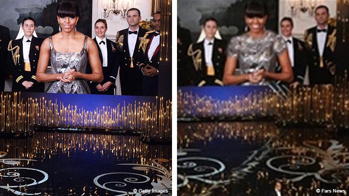 Michelle Obama Foto in Iran manipuliert