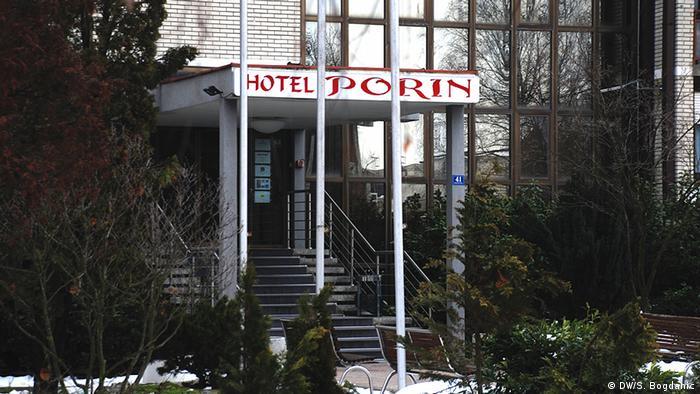 Hotel Porin u kojem su smješteni neki od izbjeglica