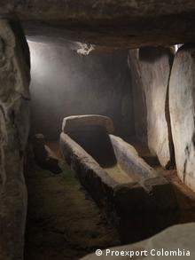 Sarkophag im Archäologischen Park von San Agustín. Archäologischer Park von San Agustín. Departamento von Huila, Kolumbien. 2012. Autor/Copyright: Proexport Colombia, zugeliefert von Victoria Dannemann