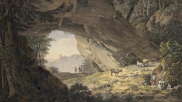 Адриан Цинг ''Коровник в Саксонской Швейцарии'' (1786)