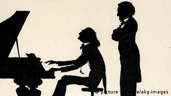 1-L55-G1870-1 (171725) Lizst und Wagner/Karikatur v. Bithorn Liszt, Franz; Pianist und Komponist; Raiding 22.10.1811 - Bayreuth 31.7.1886. - Franz Liszt und Richard Wagner. - Karikatur in Scherenschnittmanier, 1910, von Willi Bithorn. F: Lizst et Wagner / Caricature de Bithorn Liszt, Franz ; pianiste et compositeur allemand ; Raiding 22 .10.1811 - Bayreuth 31.7.1886. - Franz Liszt et Richard Wagner. - Caricatures façon silhouettes, 1910, de Willi Bithorn.