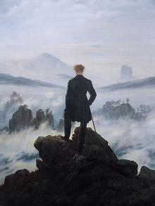 Каспар Давид Фридрих Странника над морем тумана (1818)