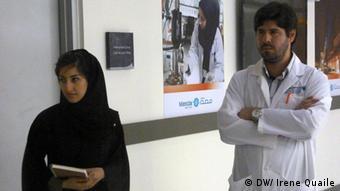 In den Labors des Masdar Institute wird Forschung zu erneuerbaren Energien und anderen Zukunftstechnologien durchgeführt. (Bild: DW)