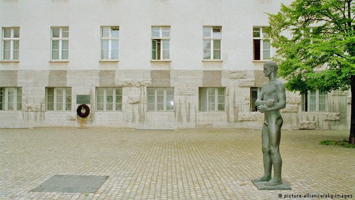 The memorial at the German Resistance Museum
