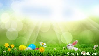 Symbolic image of Easter eggs on the grass, Copyright: lycha - Fotolia.com