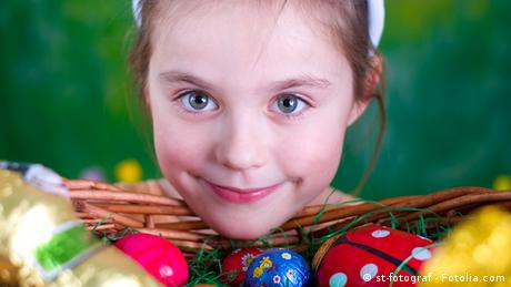 A girl with an Easter basket