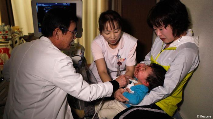 Bildergalerie Fukishima 2 Jahre danach Medizinische Untersuchung